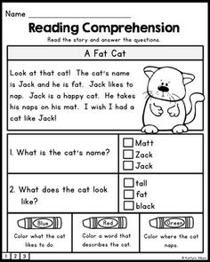 FREE Reading Comprehension Practice Passages : FREE Reading Comprehension Practice Passages by Kaitlynn Albani First Grade Reading Comprehension, Reading Comprehension Worksheets, Reading Fluency, Reading Intervention, Reading Passages, Kindergarten Reading, Reading Strategies, Reading Skills, Teaching Reading
