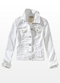 White Mist Denim Jacket - Garage   This jacket paired with a cute summer dress is perfect for a casual movie or dinner date @Oshawa Centre