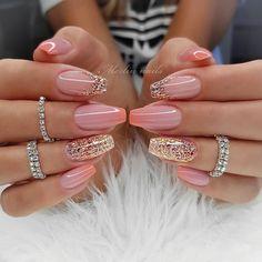 12 Nail Design & Art Ideas For Women 2019 - Trending Beauty Artist Work - Katty Glamour Gel Nail Art Designs, Pretty Nail Designs, Pretty Nail Art, Unique Nail Designs, Awesome Designs, Pink Nails, Gel Nails, Manicure, Glitter Nails