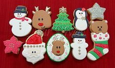 Merry X'mas! (D.Sweet - cookies decorados) Tags: bear santa christmas natal de reindeer snowman neve merry claus homem pinguin 2012 ursinho renas poinsetia