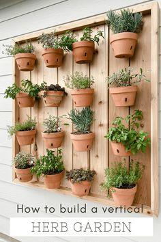 Hanging Plants Outdoor, Hanging Herbs, Diy Hanging, Hanging Herb Gardens, Balcony Herb Gardens, Potted Herb Gardens, Apartment Herb Gardens, Hanging Plant Wall, Indoor Outdoor