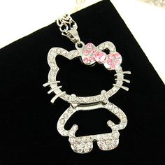 Long silver  hello kitty pendant necklaces jewelry HelloKitty Party    Very Cute ! !  Like and share!   Get yours here  http://HelloKittyParty.com   #hellokittylover #hellokitty #hellokittyaddict