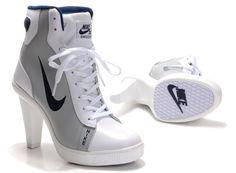 free shipping 40744 329d5 Nike SB Dunk high heels grey white black hightop