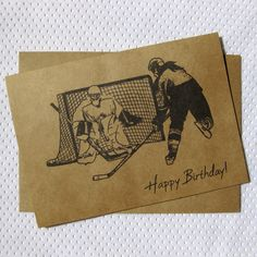 Hockey Greeting Card - Hockey Ink Sketch Female Wish the girl hockey player or fan in your life a Happy Birthday with this hockey sketch greeting card. This design has an inked sketch drawing look and features a female hockey player.