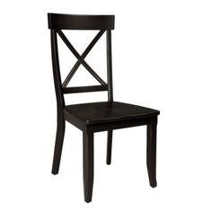 $140.00 Dining Side Chair Set of 2, Black or Cottage Oak Finish, Target Online