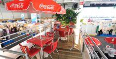 container conteneur stand coca cola bar european food avec étage
