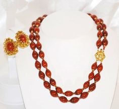 Signed Miriam Haskell Double Strand Demi by LustfulJewels on Etsy, $235.00