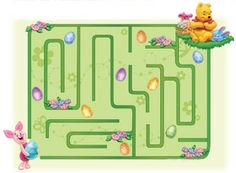Disney Printable - Winnie the Pooh and Piglet Easter Egg Hunt Maze