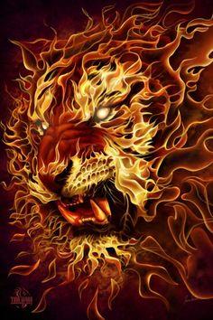 Leo Lion Fire
