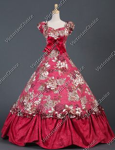 Southern Belle Civil War Ball Gown Formal Dress Reenactment Theatre Wear