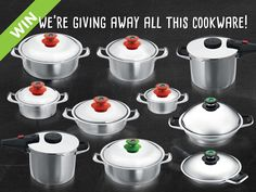 AMC | AMC cookware giveaway! Braided Hair, Kitchenware, Cookware, Henna, Giveaway, Competition, Cooking Recipes, Yummy Food, Space