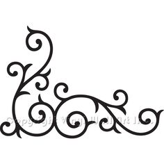 Wrought Iron Corner Swirl Vinyl Wall Decal