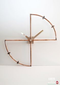 Copper Mod wall clock. minimal