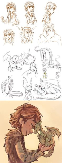 Some how to train your dragon fan art by sharpie91.deviantart.com