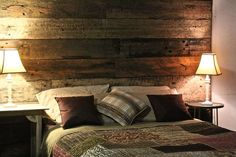 Portfolio of Artisan Sleeper Wall Panel Installations Bedroom Wall, Master Bedroom, Bedroom Ideas, Sleeper Wall, Railway Sleepers, Modular Walls, Trophy Rooms, Beautiful Bedrooms, Feature Walls