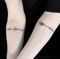 Geometric Sound Wave Tattoo by Emrah Ozhan