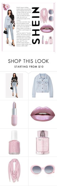 """O.o"" by zlata-82 on Polyvore featuring We11Done, Winky Lux, Huda Beauty, Essie, Trish McEvoy, Versace and Quay"