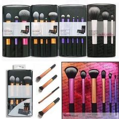 Techniques-Cosmetic-Starter-Kit-Powder-Foundation-Makeup-Brushes-Tool-Set-Case