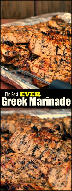 The Best Greek Marinade for Chicken, Steak & Pork - Aunt Bee's Recipes You will not BELIEVE the secret to the juiciest grilled chicken ever! We had been doing it ALL WRONG! (Whole Chicken Marinade) Grilling Recipes, Meat Recipes, Cooking Recipes, Recipies, Best Bbq Recipes, Recipes Dinner, Game Recipes, Drink Recipes, Barbeque Chicken Recipes