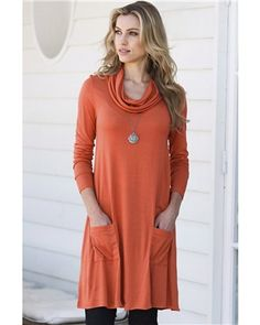 Womens Tunic with Cowl Neck