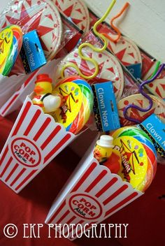 Carnival Birthday Party Favors