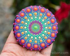 Welcome to the world of beautiful Mandalas! Dot Art Painting, Mandala Painting, Pebble Painting, Pebble Art, Stone Painting, Mandala Artwork, Mandala Painted Rocks, Mandala Rocks, Hand Painted Rocks