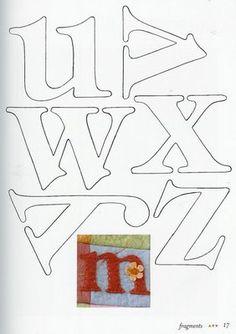 Molde de Letras 4 - Feltro | Flickr: Intercambio de fotos