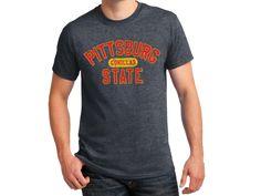 Pittsburg State Basic Gildan Dry Blend Tee Shirt - Dark Heather