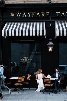 Intimate Wedding at Wayfare Tavern San Francisco — Buena Lane Photography Coffee Shop Interior Design, Cafe Design, Cafe Shop, Cafe Bar, Wayfare Tavern San Francisco, June Gloom, Blue Cafe, Shop Facade, Building Front