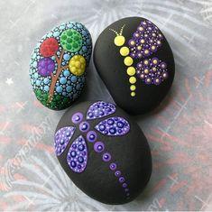 Rock Painting Patterns, Rock Painting Ideas Easy, Dot Art Painting, Rock Painting Designs, Mandala Painting, Pebble Painting, Pebble Art, Stone Painting, Mandala Painted Rocks