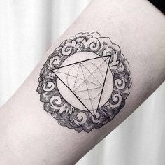 """#tattoo #ornament #linework #dotwork #geometrictattoo #btattooing #blacktattooart #tattrx #equilattera #engraving #woodcut #lovettt"" Photo taken by @dogma_noir on Instagram, pinned via the InstaPin iOS App! http://www.instapinapp.com (08/21/2015)"