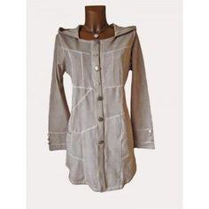 Patchwork Long Sweat Jacke Mantel Kapuze Tasche Batik A-Form, AKB Mod