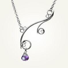 Spiral Necklace Sterling Silver Handcrafted by LUCIUSjewelry, $130.00