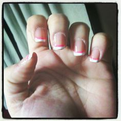 White & Pink French Tip - Nails by Kita