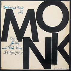 Album cover art for Thelonious Monk on Blue Note (1954)