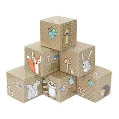 DIY Adventskalender Kisten Set - Waldtiere - 24 bunte Kisten zum Aufstellen und zum selber Befüllen Toy Packaging, Wooden Toys, Advent Calendar, Decorative Boxes, Gift Wrapping, Illustration, Christmas, Gifts, Home Decor