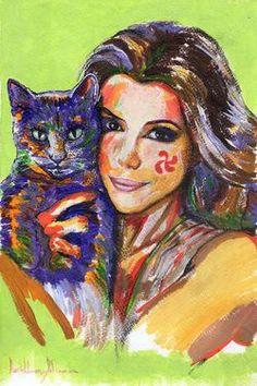 """Saatchi Online Artist daniel levy; Painting, """"Longorias Cat"""" #art"""