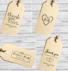 Favor Tag Template, Printable SMALL Double Heart Design, Wedding ...