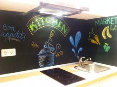Kitchen chalkboard cocina pintada de pizarra