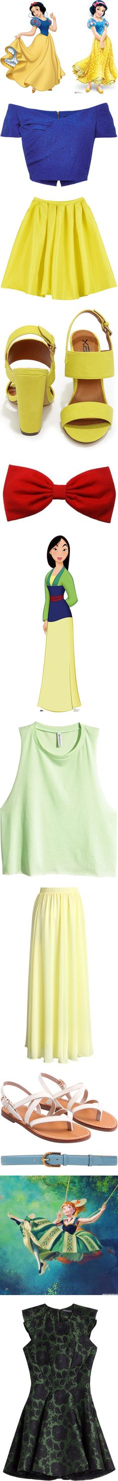 Designer Clothes, Shoes & Bags for Women Drunk Disney, Snow White, Backgrounds, Doodles, Women's Fashion, Crop Tops, Summer Dresses, Polyvore, Stuff To Buy