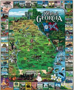 Historic Georgia Post card