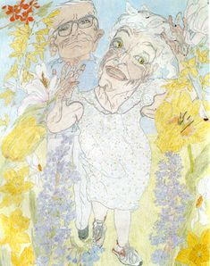 """""""Grandma"""" Layton used line contour drawing to help her climb out of depression, can be viewed at the Elizabeth Layton Center"""