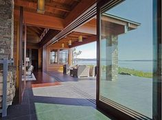 lying just above a rocky, driftwood-strewn coastline, this jewel of the pacific northwest combines a sleek modern design with traditional local materials. on the modern side there are expansive walls of glass that slide back to open the living areas to the outdoors, while the stone and wood construction keeps things familiar. the main house, completed just two years ago, measures 4,100 square feet with 3 bedrooms and 4 bathrooms on 7.6-acre estate, now for sale for $6500000.