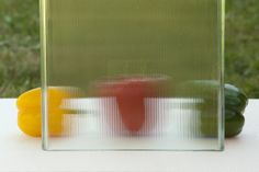 Pilkington Profilit™ Slim Line - profiled textured glass with an ornament in a form of thin, linear grooves.