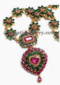 Jewellery Designs: Flower Patterned Clasps Haram