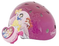 Princess Unisex-Child Hardshell Helmet with Bell (Purple) by Disney. $21.99. A comfortable fit is created by our easy to adjust webbing. Bonus Bell included. Better airflow and comfort are provided by a top, front and back vented design. Safety and versatility are products of  a protective multi-sport design with gloss finish. Whether you're skating or riding a bike your favorite Disney Princesses will keep you safe and stylish. For ages 5+