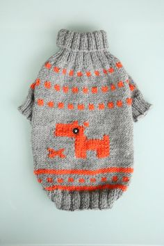 Knitting dog sweater Sweater for dogs Small dog by WooleeHandmade