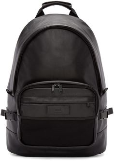 AMI Alexandre Mattiussi - Black Leather Backpack
