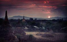 One of my favourite #sunset spots in #Bagan  #Myanmar #oldbagan #burma #Buddhist #sunsetporn #eveningsky #hills #village #pinksky #travel #wanderlust #mobilography #travelgram by egle_vandenio