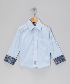 Another great find on #zulily! Light Blue Stripe Button-Up - Infant, Toddler & Boys by Ciao Marco #zulilyfinds